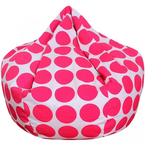 Dots Bean Bag Fluro Pink