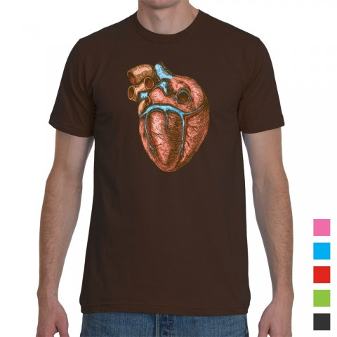Heart Illustration Colour T-Shirt Mens Regular
