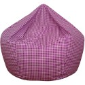 Gingham Bean Bag Purple