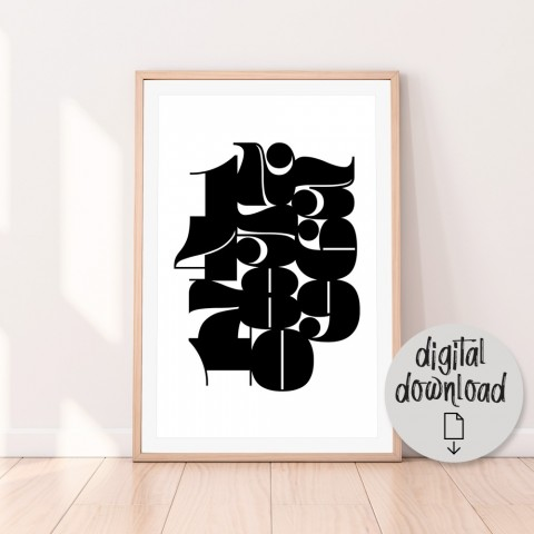 Pompadour Numbers Download Print