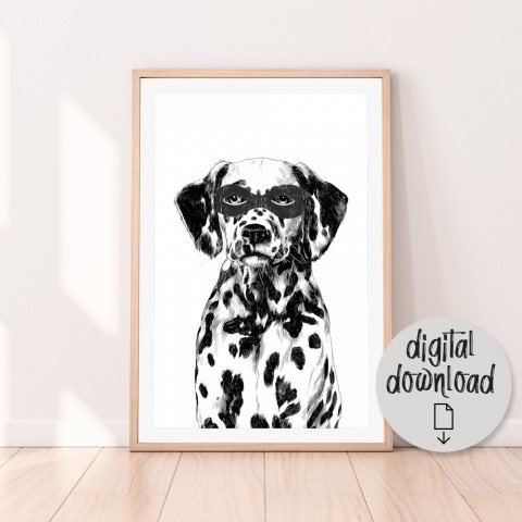 Superhero Dalmatian Download Print