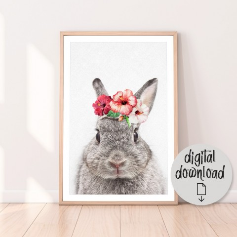 Vintage Bunny Download Print
