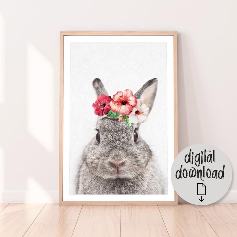 Vintage BunnyDownload Print