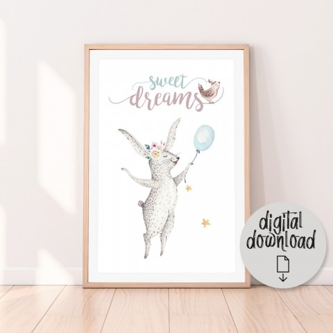 Sweet Dreams Bunny Download Print
