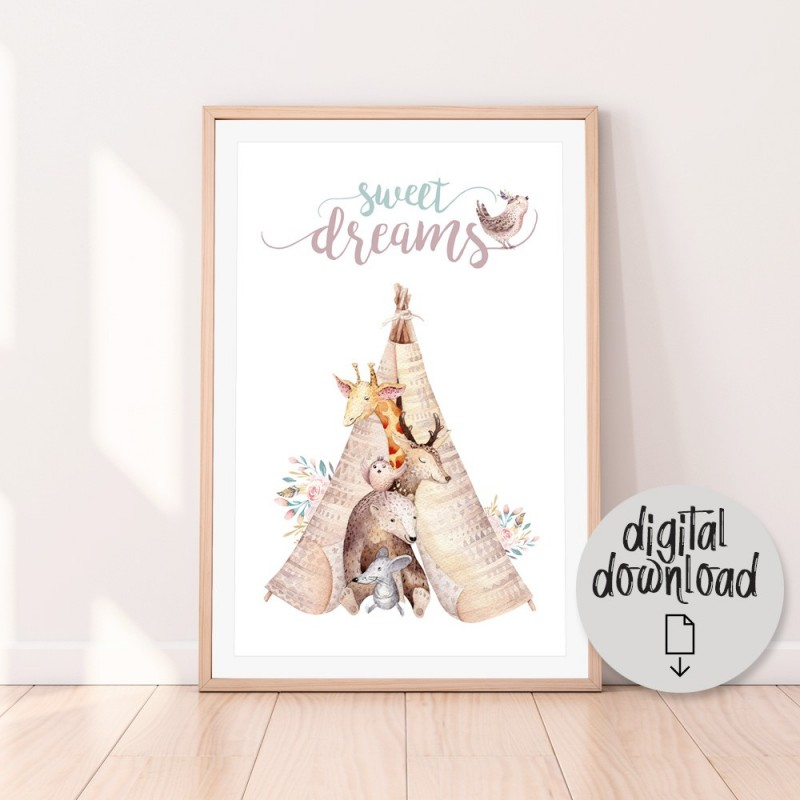 Sweet Dreams Teepee Download Print