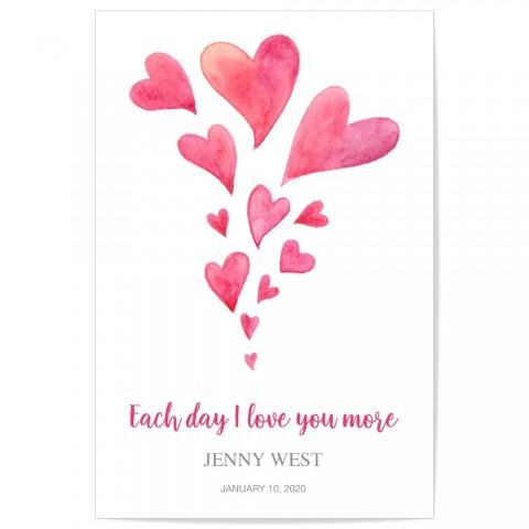 Custom Baby Name Love Hearts Nursery