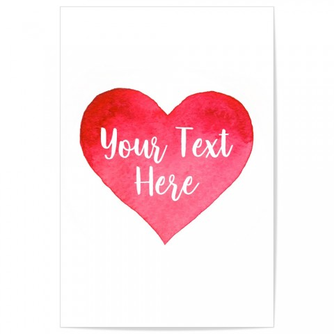Custom Love Heart Art Print