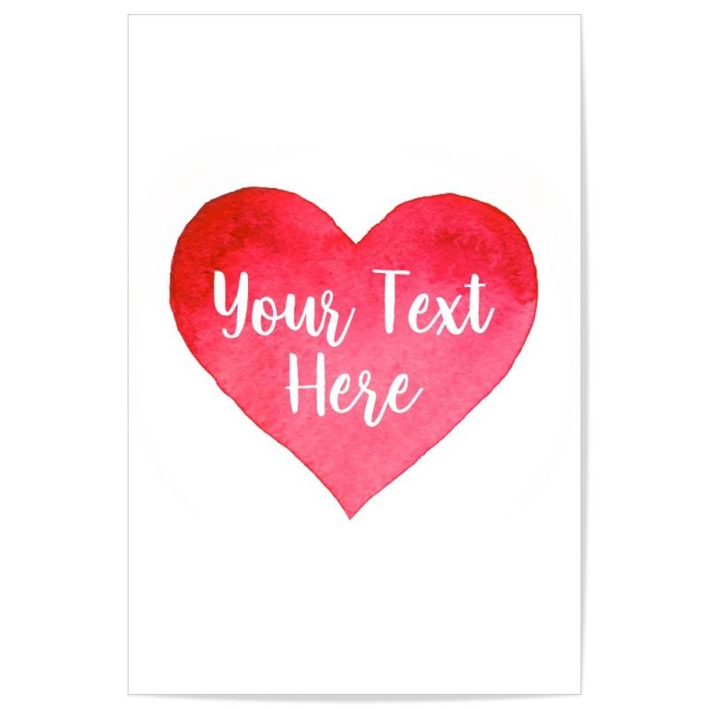 Custom Love Heart Art Print