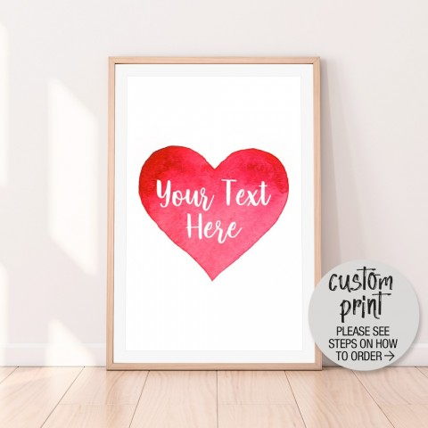 Custom Love Heart Download Print