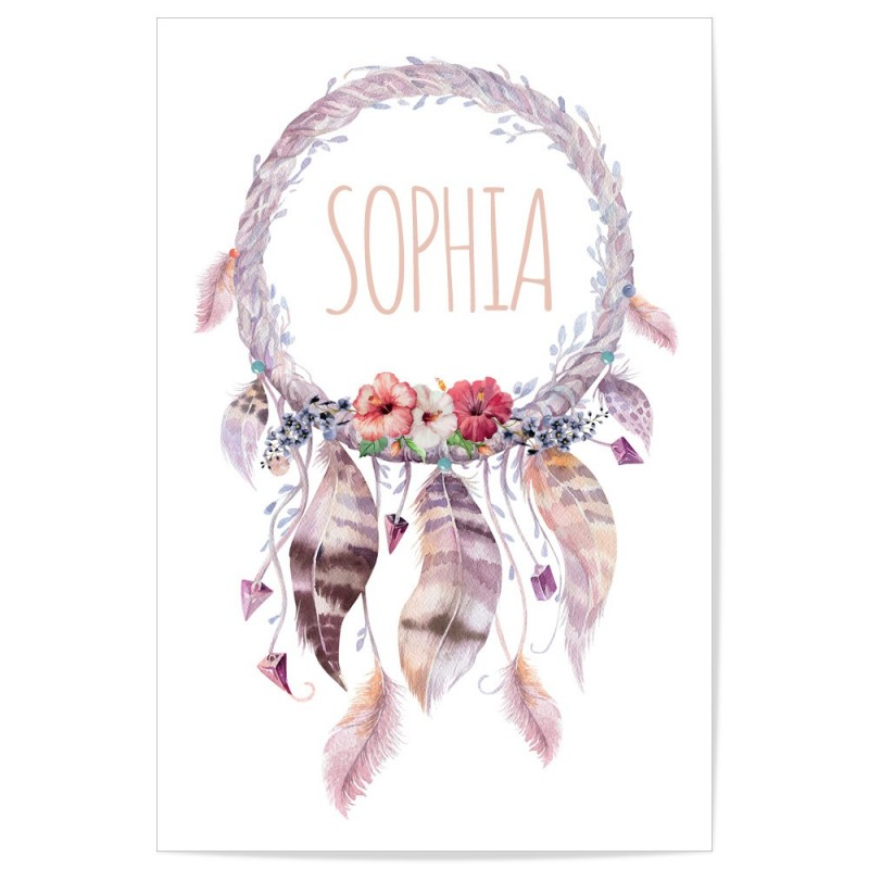 Custom Dreamcatcher Name Art Print
