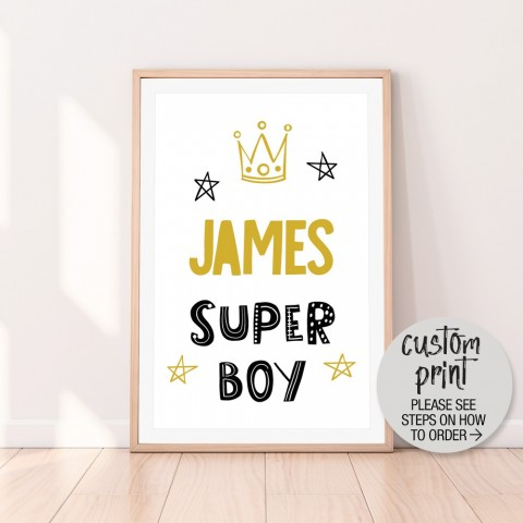 Custom Super Boy Download Print