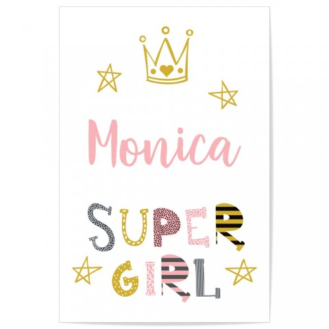Custom Super Girl Art Print