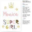 Custom Super Girl Art Print