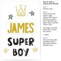 Custom Super Boy Art Print