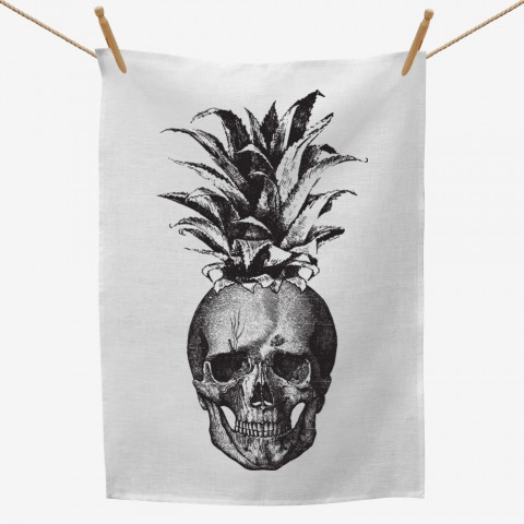 Skull Pineapple Tea Towel