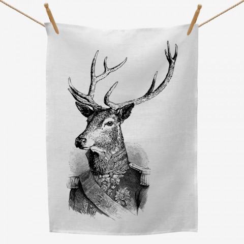 Admiral Deer Tea Towel