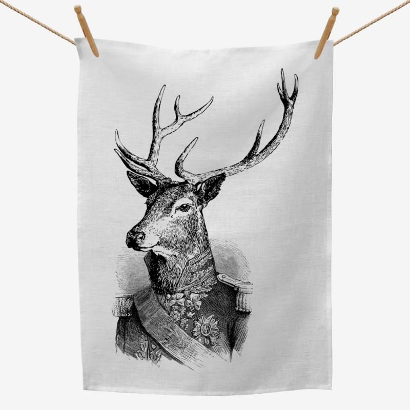 Admiral Deer Tea Towel