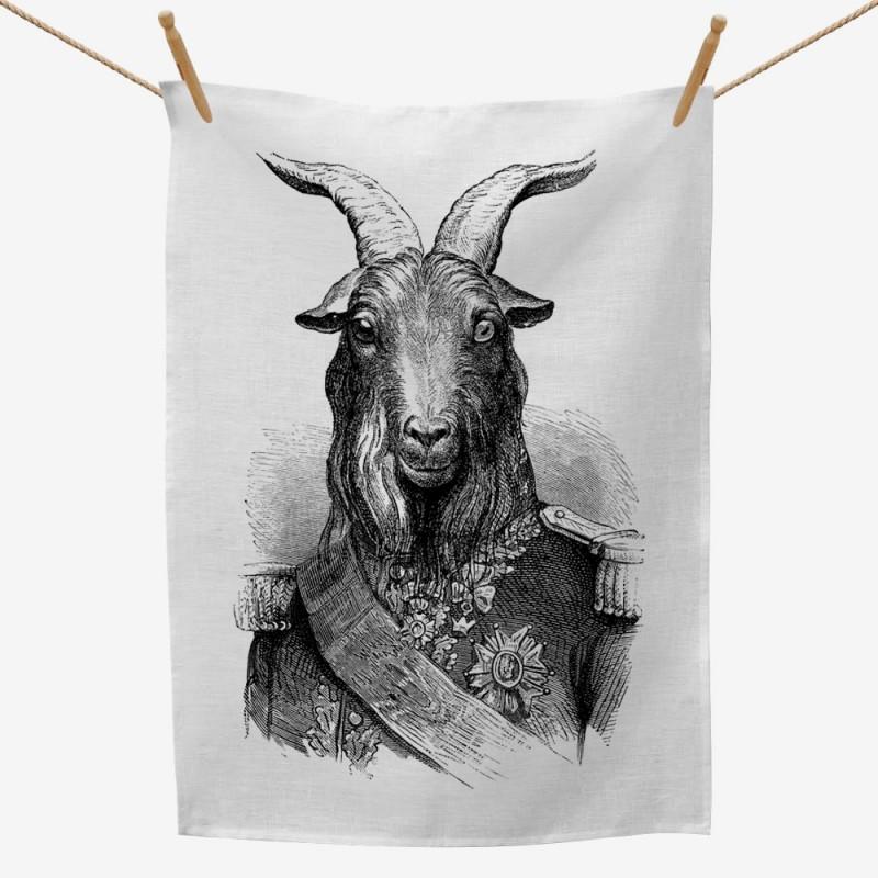 General Goat Tea Towel