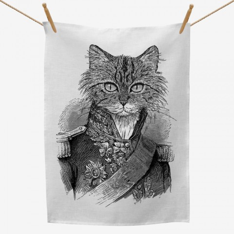 Captain Cat Tea Towel
