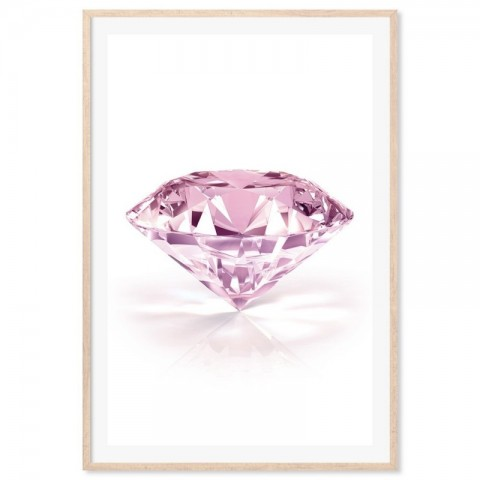 Diamond Pink Art Print