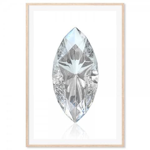 Marquise Cut Diamond Art Print