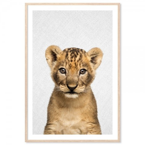 Hello Lion Cub Art Print