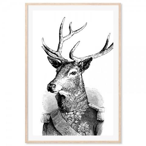 Admiral Deer Art Print