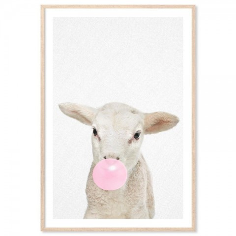 Bubblegum Lamb Art Print