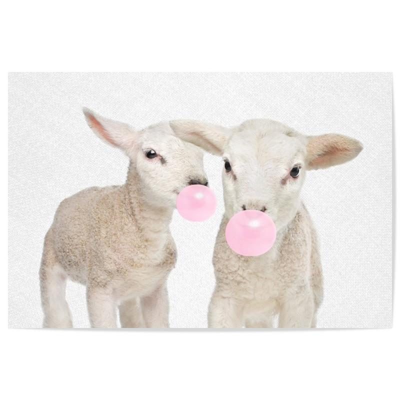 Bubblegum Lambs Art Print