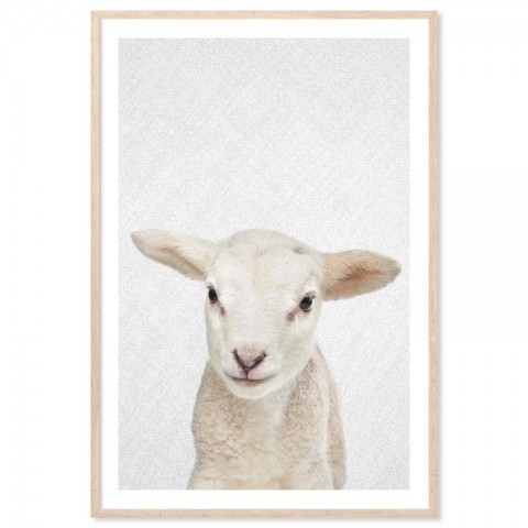 Hello Baby Lamb Art Print