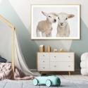 Hello Baby Lambs Art Print