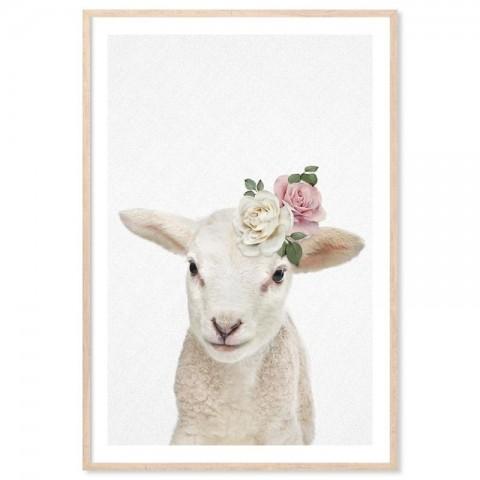 Vintage Baby Lamb Art Print