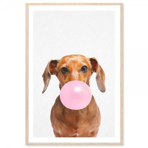Bubblegum Dachshund Art Print