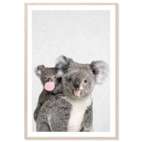 Bubblegum Koala Art Print