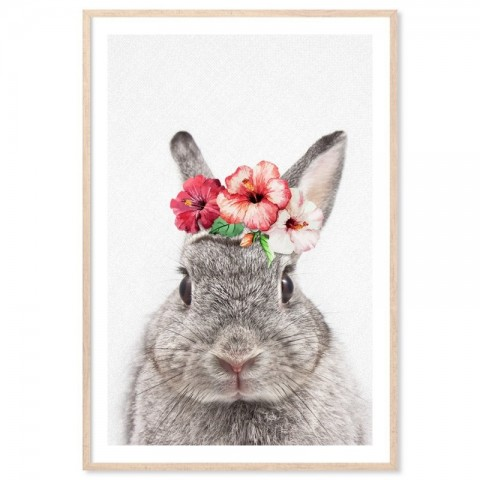 Vintage Bunny Art Print