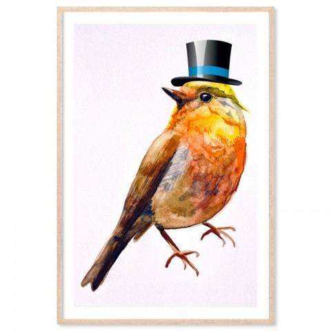 Bird Top Hat Art Print