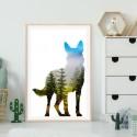 German Shepherd Forest Art Print