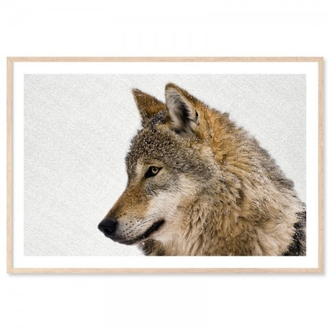 Hello Wolf Landscape Art Print