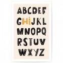 Kids Alphabet Hi Art Print