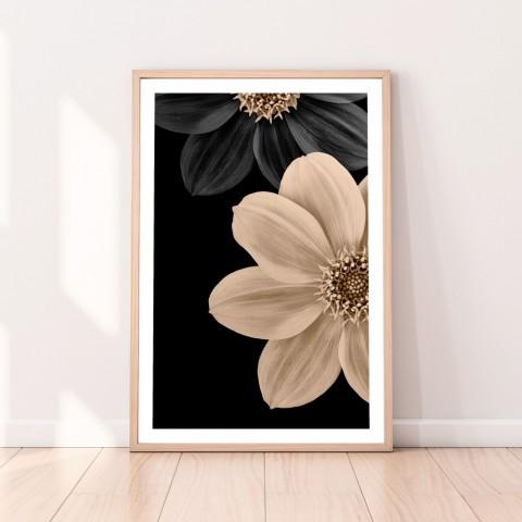 Dahlia Flowers Midnight Download Print