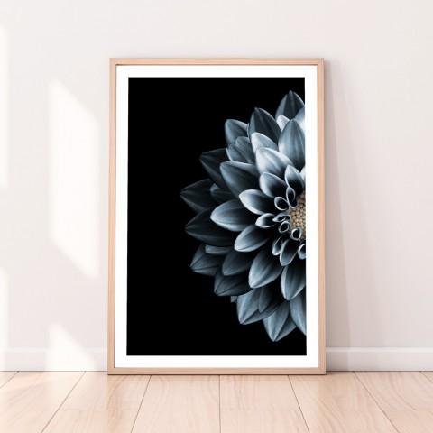 Dahlia Flower Indigo Download Print