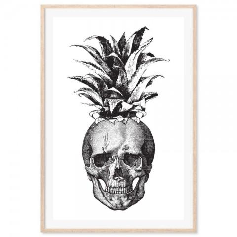 Skull Pineapple Art Print