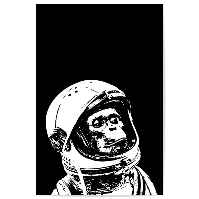 Chimpanzee Astronaut Art Print