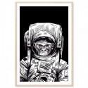 Monkey Astronaut Art Print