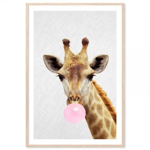 Bubblegum Giraffe Art Print