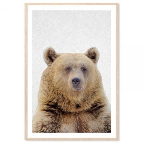 Hello Brown Bear Art Print