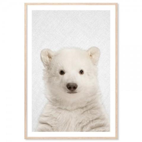 Hello Polar Bear Art Print