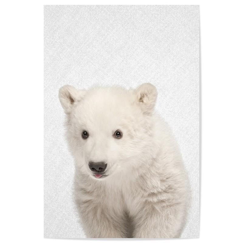 Hello Polar Bear Walking Art Print