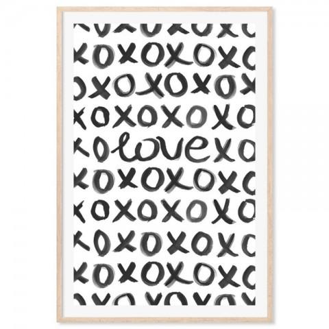 Love Hugs Kisses Art Print