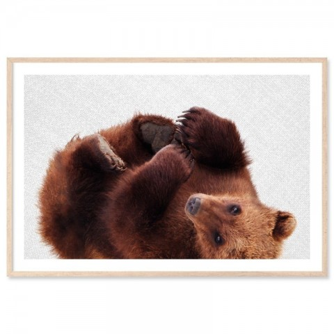 Roly Poly Bear Art Print